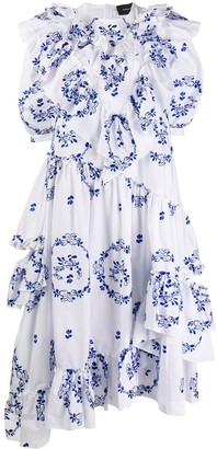 Simone Rocha Floral Print Dress
