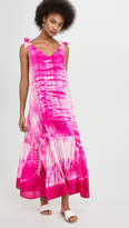 Juliet Dunn Silk Tie V Neck Cover Up Maxi Dress