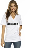 Peace Love World I am Blessed V-Neck Tee