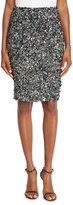 Haute Hippie Mosaic Sequin-Embellished High-Waist Skirt, Multi