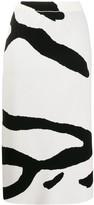 Christian Wijnants Kalina zebra stripe skirt