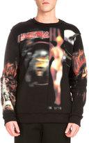 Givenchy Heavy Metal Logo-Print Distressed Sweatshirt