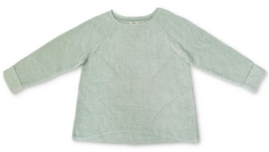 Style&Co. Style & Co Plus Size Marl Pointelle Cuffed Sweater, Created For Macy's