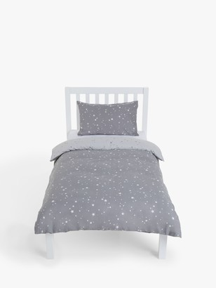 little home at John Lewis Stardust Reversible Duvet Cover and Pillowcase Set, Single