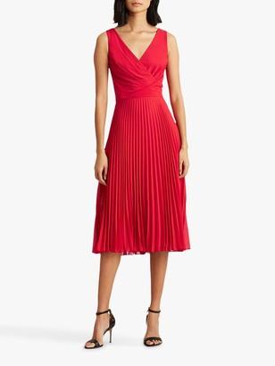Ralph Lauren Ralph Rayella Sleeveless Pleated Day Dress, Orient Red