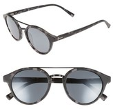Ted Baker Men's 51Mm Polarized Round Sunglasses - Black