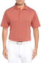 Bobby Jones Men's Xh20 Cero Stripe Stretch Golf Polo