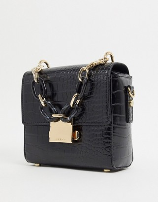 Aldo gloiwia shoulder bag with chain strap in black
