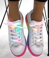 Qupid White & Rainbow Nolan Light-Up Laces Sneaker