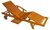 International Caravan Royal Tahiti Shorea Wood Patio Chaise Lounge