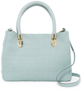 Cole Haan Benson Small Woven Leather Satchel