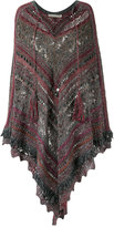 Cecilia Prado knitted poncho - women - Cotton/Acrylic/Lurex/Viscose - One Size