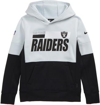 Nike Kids' Dri-FIT Therma NFL Logo Las Vegas Raiders Hoodie