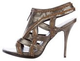 Elizabeth and James Metallic Cage Sandals