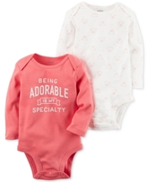 Carter's 2-Pk. Adorable Cotton Bodysuits, Baby Girls (0-24 months)