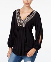 Jessica Simpson Frida Embroidered Peasant Top