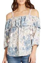 Jessica Simpson Plus Les Floral-Printed Popover Top