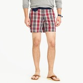 "J.Crew 6.5"" Tab Swim Short In Plaid"