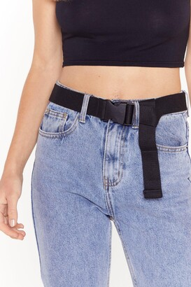 Nasty Gal Womens Clip Buckle Canvas Belt - Black - One Size