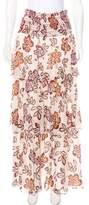 Tory Burch Floral Print Maxi Skirt