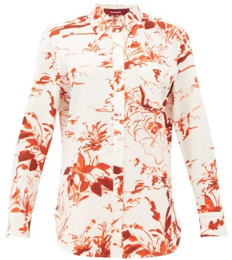 Sies Marjan Sander Abstract-print Crepe Shirt - Orange Print