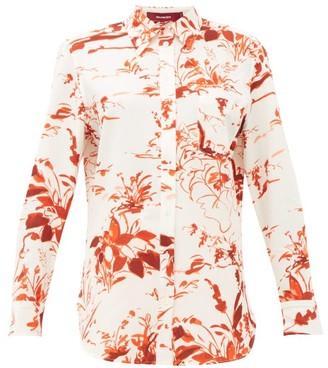 Sies Marjan Sander Abstract-print Crepe Shirt - Womens - Orange Print
