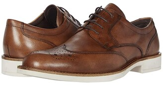 Ecco Biarritz Brogue Derby Tie (Amber) Men's Shoes