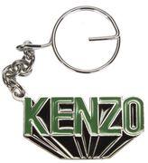 Kenzo Black Keychains With Green Logo
