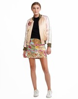 Cynthia Rowley Chinoiserie Print Mini Skirt