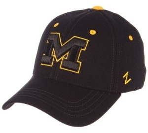 Zephyr Michigan Wolverines Black Element Stretch Fitted Cap
