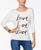 Thalia Sodi Love Metallic Graphic T-Shirt, Only at Macy's