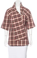 Hoss Intropia Asymmetrical Plaid Top