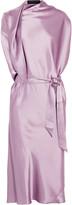 Maria Grachvogel Kosuke belted silk-satin dress