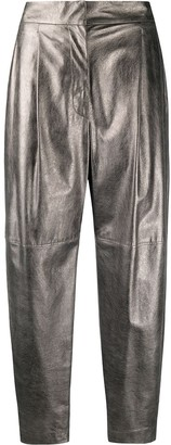Brunello Cucinelli High-Rise Carrot-Fit Trousers