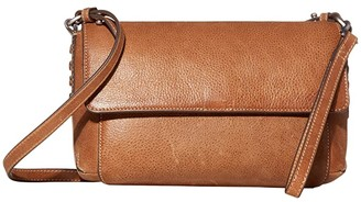 Frye Reed Flap Crossbody (Tan) Handbags