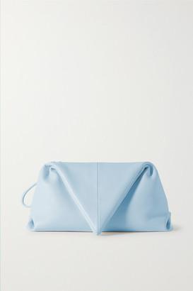 Bottega Veneta Trine Leather Clutch - Light blue