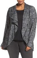 Melissa McCarthy Plus Size Women's Asymmetrical Zip Jacket