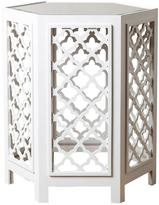 Abbyson Living Garland Mirrored End Table - White