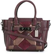 Coach geometric design tote - women - Leather/Suede - One Size