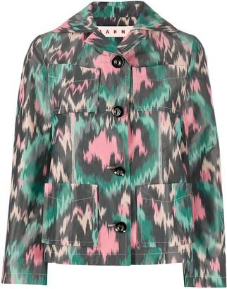 Marni four-pocket poly cotton jacket