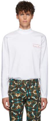 Martine Rose White Jersey Funnel Neck T-Shirt