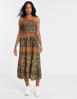 Raga wild rose trails halter maxi dress in multi