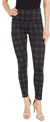 Lysse Reversible Ponte Leggings (Charcoal Frosted Houndstooth/Charcoal Heather Grey) Women's Casual Pants