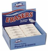 Alvin 2303AE 40/Box Rub-Lite Rose Soft Erasers