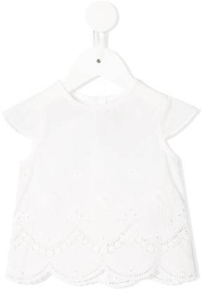 Tartine et Chocolat embroidered floral tunic top