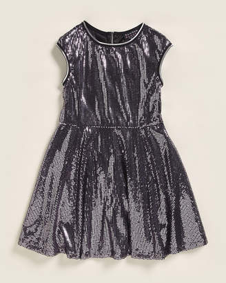 Hannah Banana (Girls 7-16) Sequined T-Stripe Skater Dress