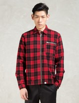 thisisneverthat Red/black Check Zip Shirt