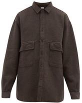 Raey Oversized Textured Cotton-blend Shirt - Mens - Brown