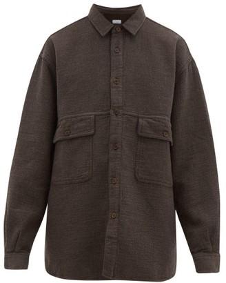 Raey Oversized Textured Cotton-blend Shirt - Brown