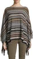 "Missoni Women's Wool Blend Poncho 45x140 (18""X55"")"